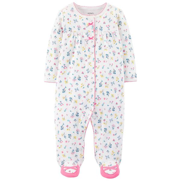Baby Girl's Floral Snap-Up Sleep and Play Pajamas