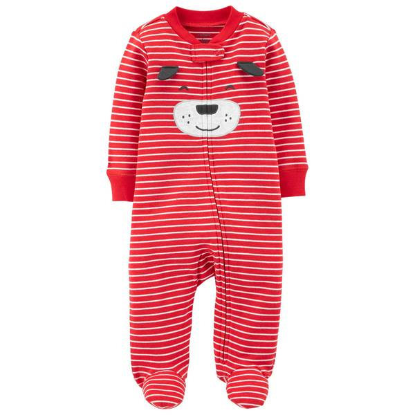 Baby Boy's Dog Zip-Up Sleep and Play Pajamas