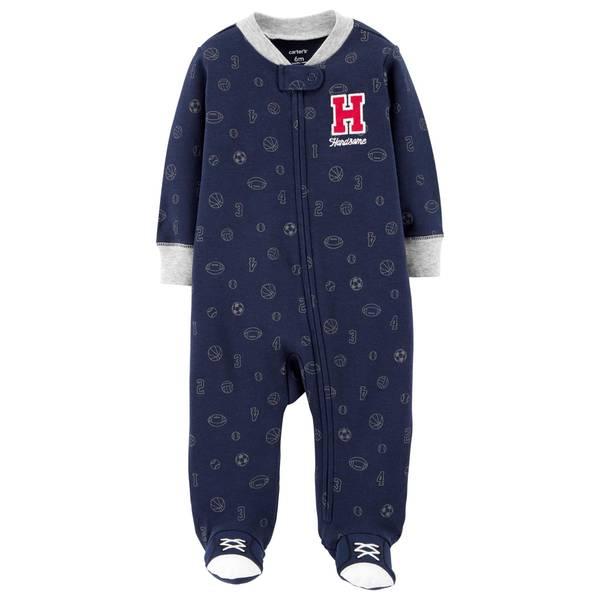 Baby Boy's All Star Zip-Up Sleep and Play Pajamas