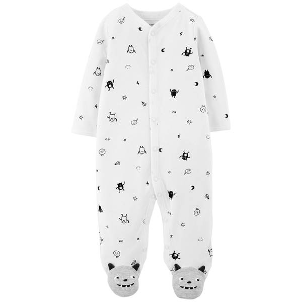 Baby Boy's Monster Snap-Up Sleep and Play Pajamas