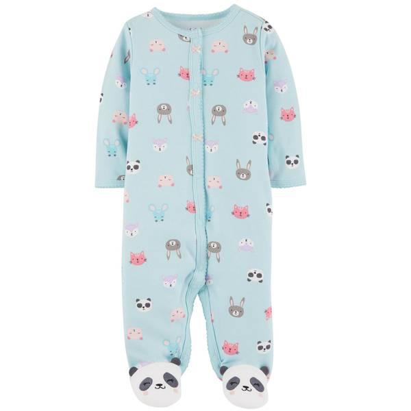 Baby Girl's Panda Snap-Up Sleep and Play Pajamas