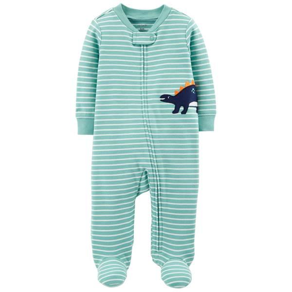 Baby Boy's Dinosaur Zip-Up Sleep and Play Pajamas