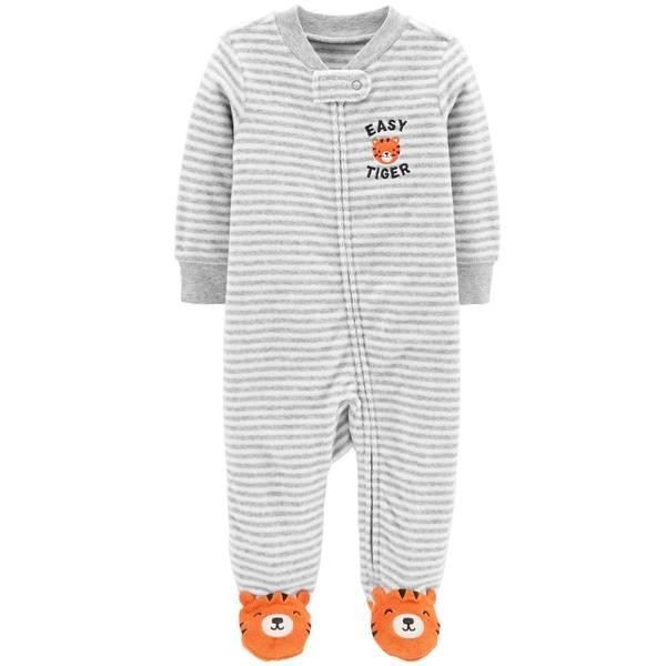 Baby Boy's Tiger Zip-Up Sleep and Play Pajamas