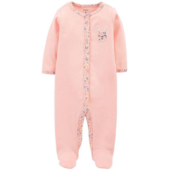 Baby Girl's Bunny Snap-Up Sleep and Play Pajamas