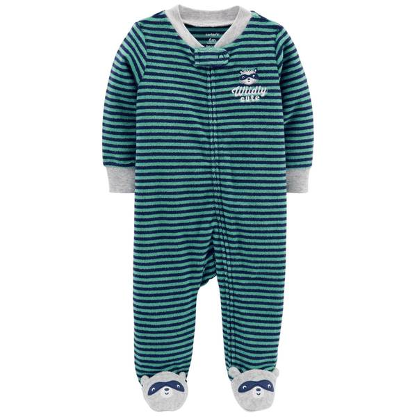 Baby Boy's Raccoon Zip-Up Sleep and Play Pajamas