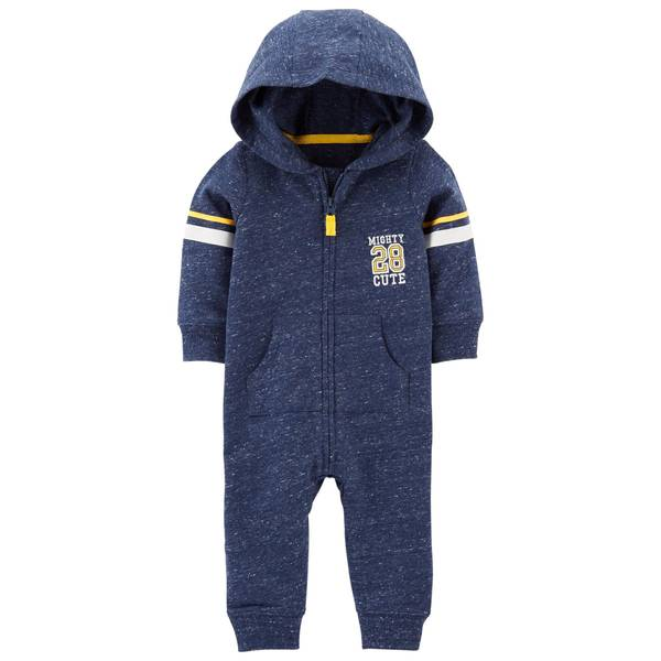 Baby Boy's Mighty Cute Hooded Jumpsuit