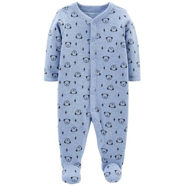 Baby Boy's Dog Snap-Up Thermal Sleep and Play Pajamas