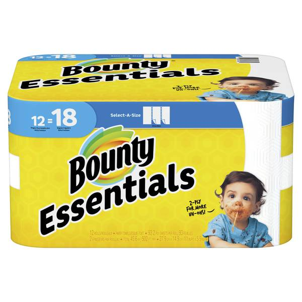 12-Pack Essentials Paper Towel Giant Roll