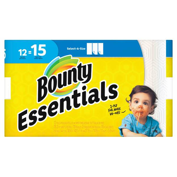 12-Pack Essentials Large Roll Paper Towel