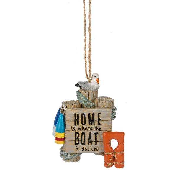 Home Where Boat Docked Ornament