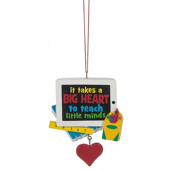 Takes a Big Heart Teacher Ornament