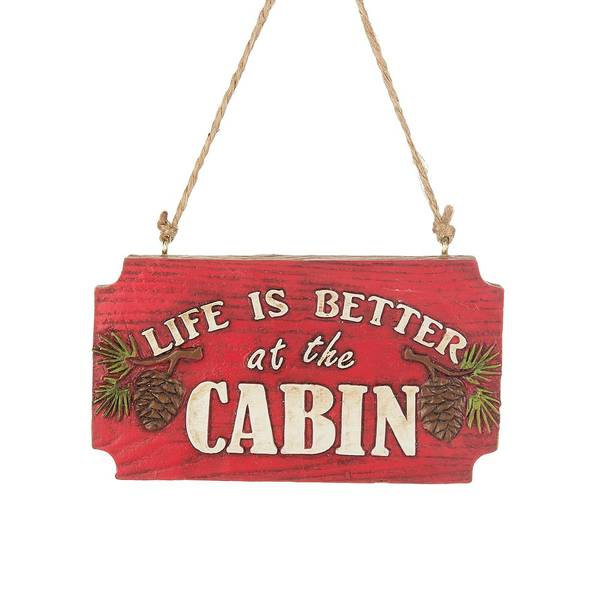 Life Is Better at the Cabin Ornament