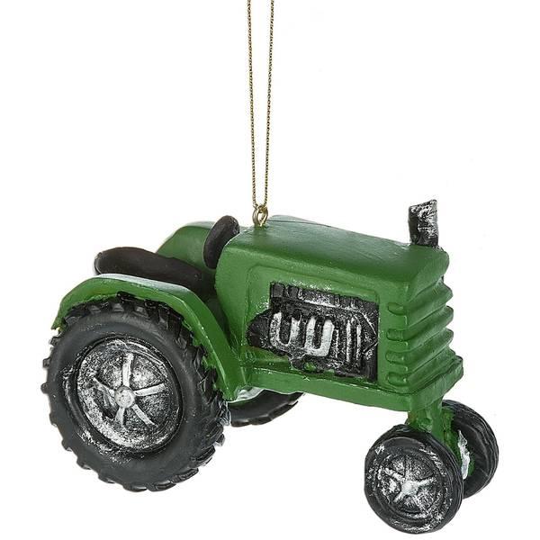 Green Tractor Ornament