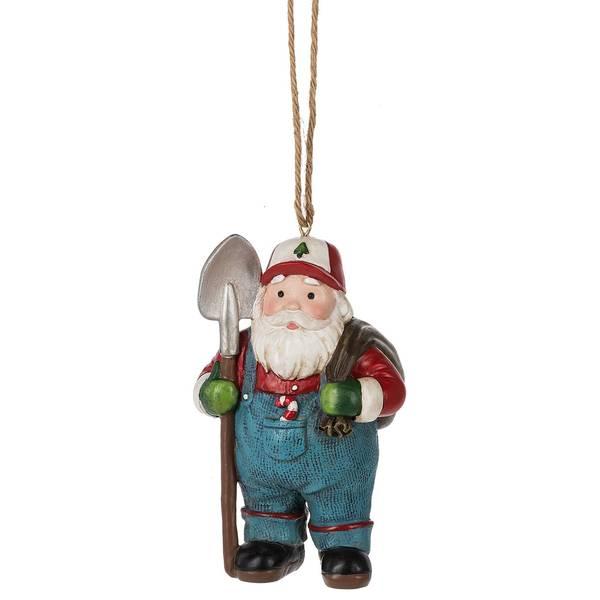Farmer Santa Ornament