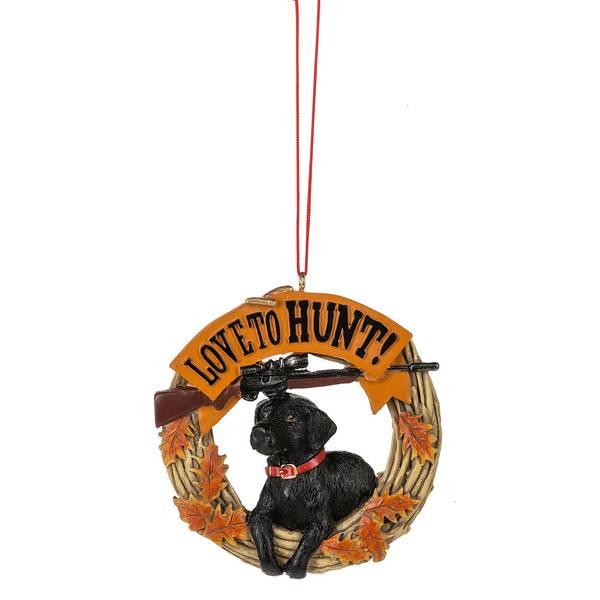 Love to Hunt Dog Ornament