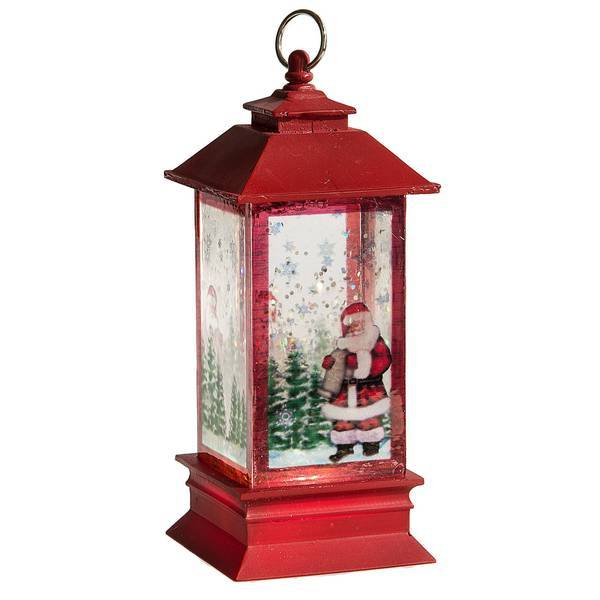 Lighted LED Lantern with Santa Mini Shimmer