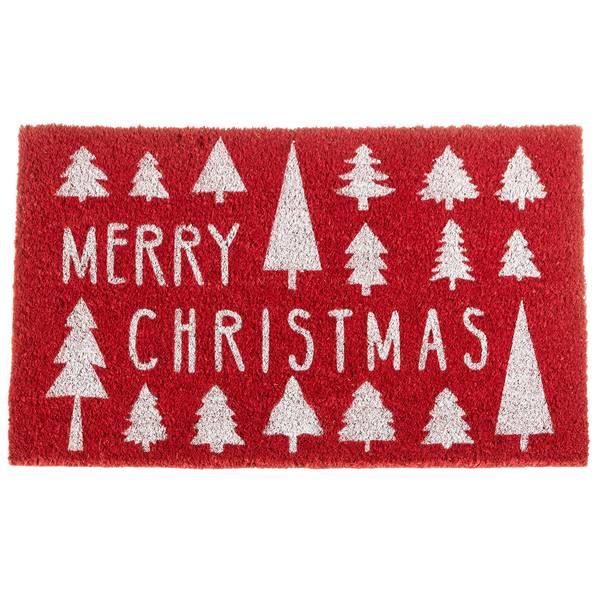 Merry Christmas Red Doormat