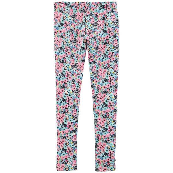 Girl's Multi-Colored Floral Leggings