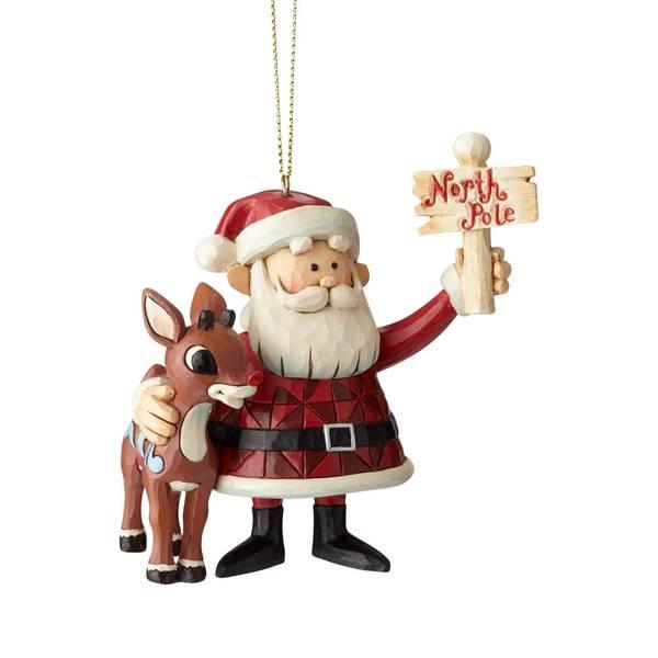 Santa with Rudolph Ornament