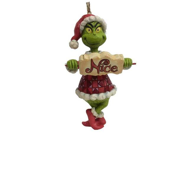Grinch Naughty Nice Ornament