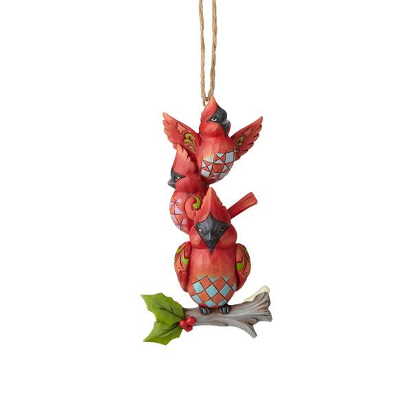 Stacked Cardinals Ornament