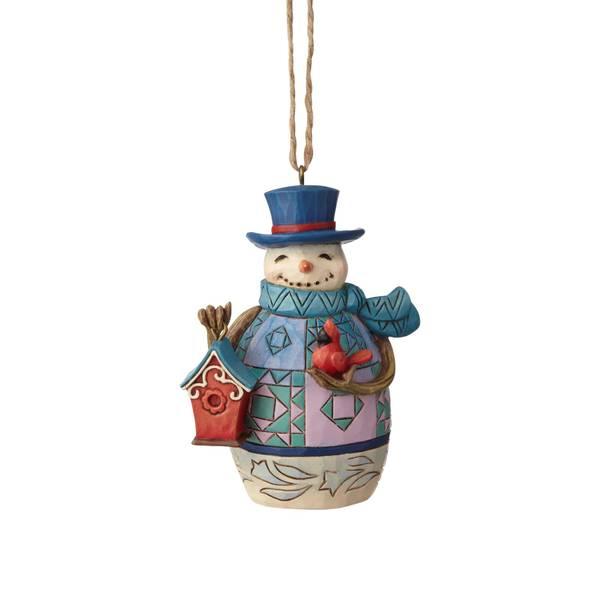 Snowman with Birdhouse Ornament