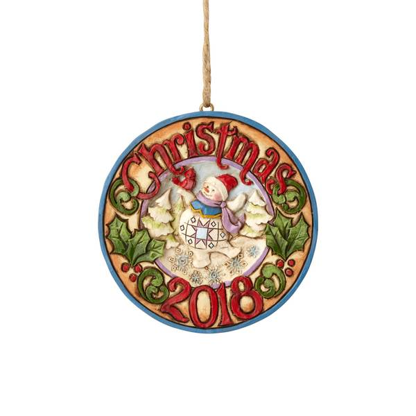 Dated Snowman 2018 Ornament