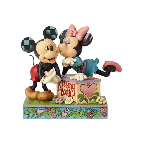 Mickey and Minnie Kissing Booth Figurine