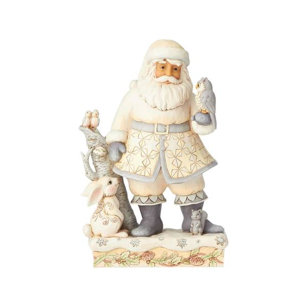 Woodland Santa with Tree Figurine
