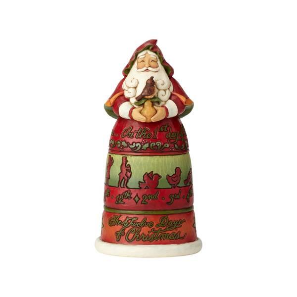 Santa 12 Days of Christmas Figurine