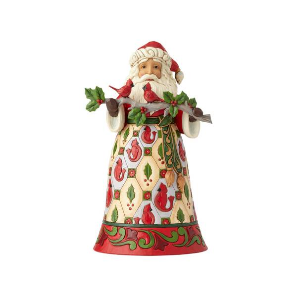 Santa with Cardinal Figurine