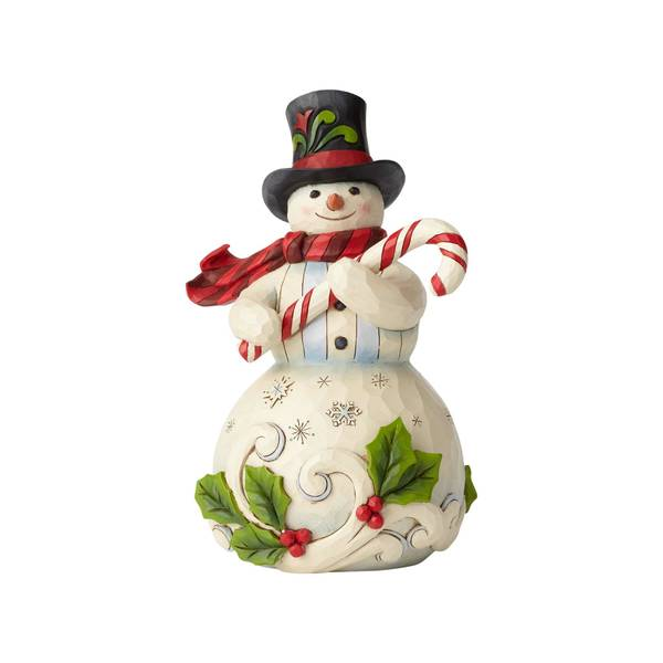 Snowman with Candy Figurine
