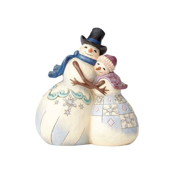 Snowman with Snowlady Figure