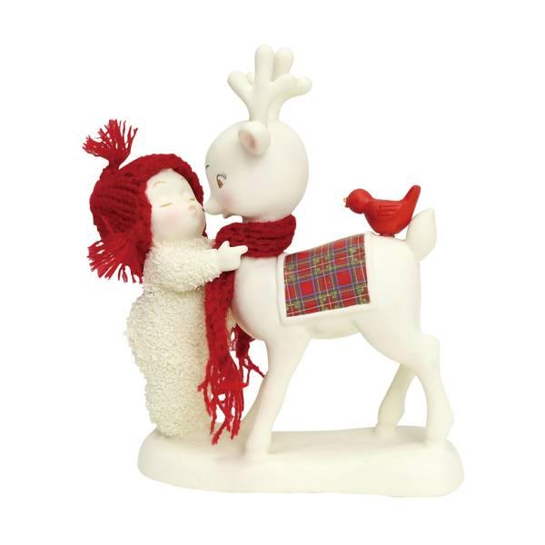 Snowbabies Reindeer Kisses Figurine