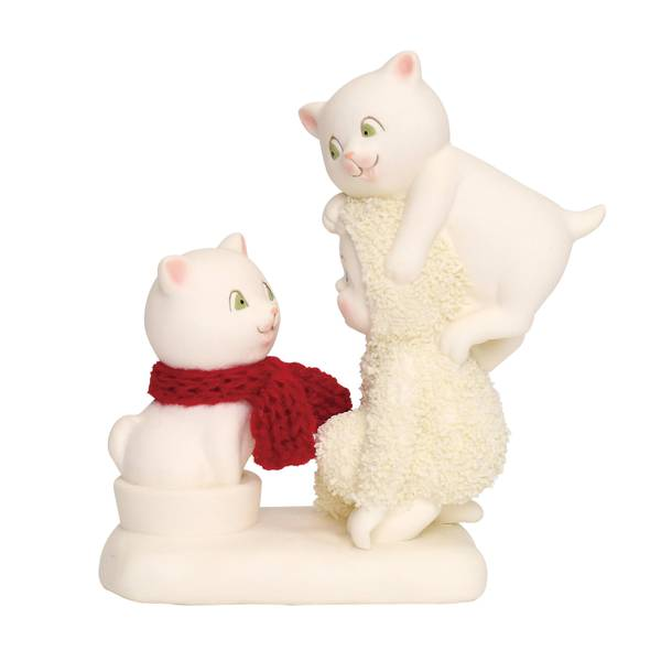 Snowbabies Trouble with Cats Figurine