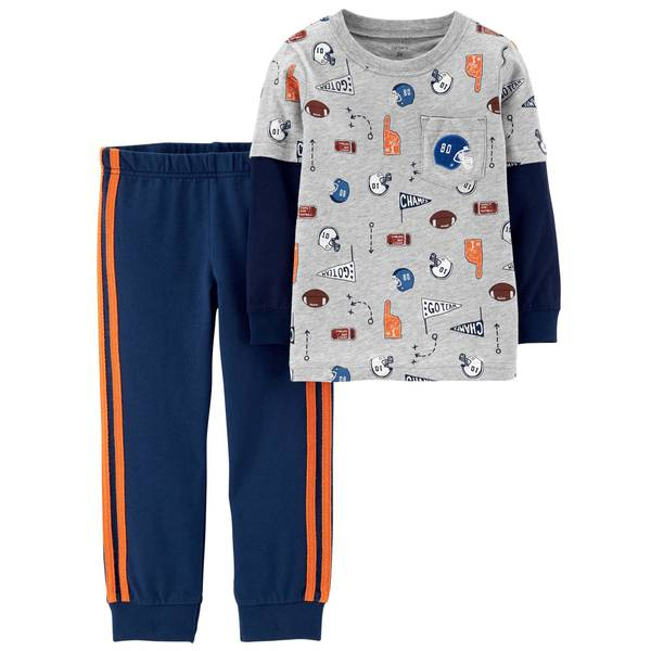Toddler Boys' Navy 2-Piece Sport Top & Pants Set