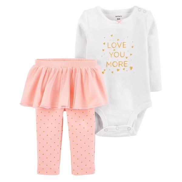 Infant Girls' Pink Love You More Tutu Set