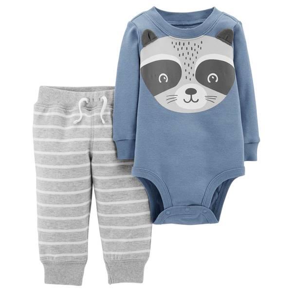 Infant Boys' Blue Raccoon Set