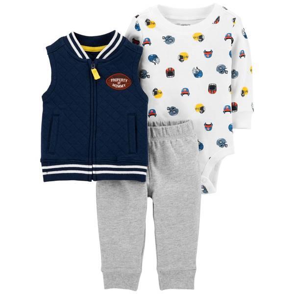 Infant Boys' Navy 3-Piece Football Vest Set
