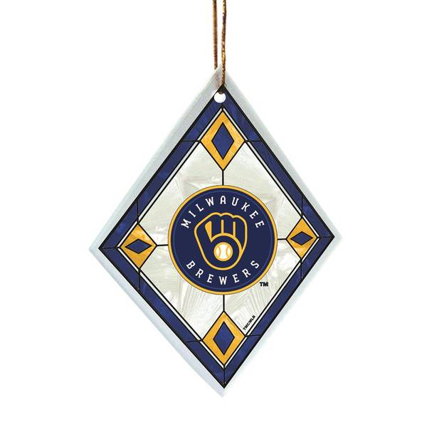 Milwaukee Brewers Art Glass Ornament