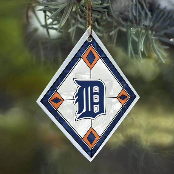 Detroit Tigers Art Glass Ornament
