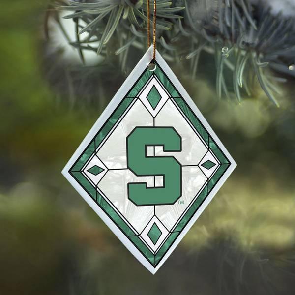 Michigan State Art Glass Ornament