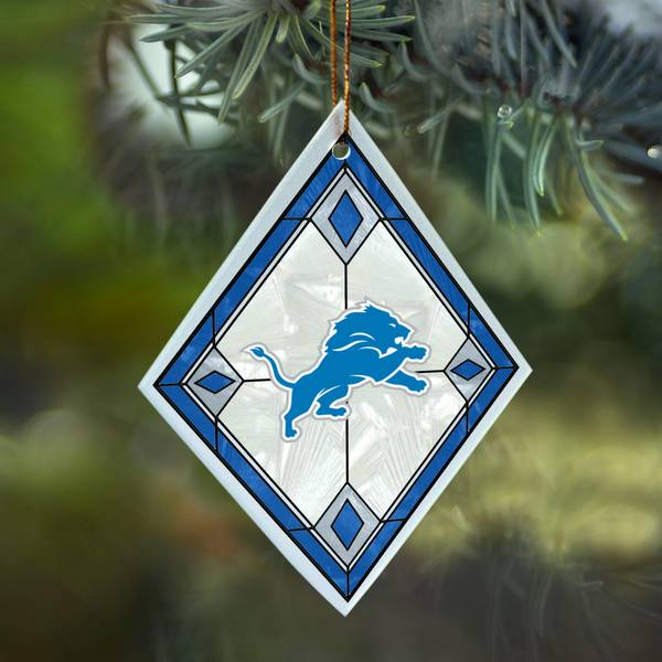 Detroit Lions Art Glass Ornament