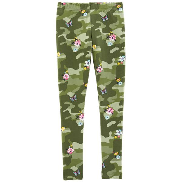 Big Girls' Camouflage Butterfly Leggings