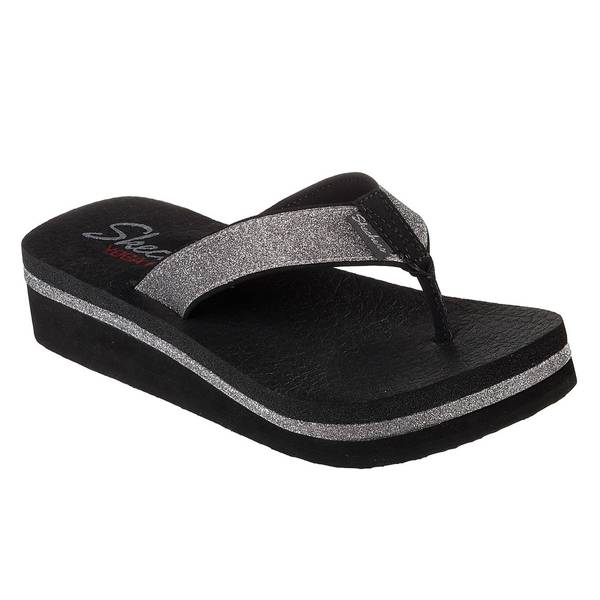 Women's Black Vinyasa-Unicorn Mist Thong Sandals