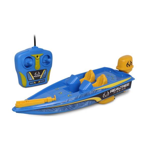 RC Bass Boat Full Function Blue