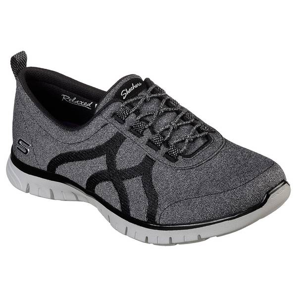 Women's Black and Gray EZ Flex Renew Slip-On Sneakers