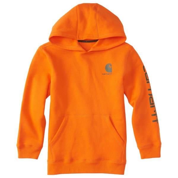Carhartt Little Boy's Blaze Orange Cotton-Blend Hoodie thumbnail