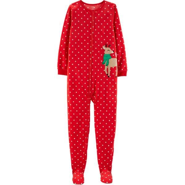 toddler girls christmas reindeer pajamas red