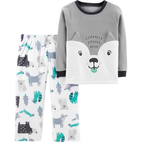 34b2ccc56 Carter s Infant Boys  2-Piece Fleece Wolf Face Pajamas Grey